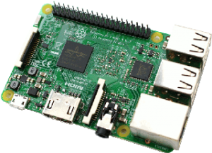 The Raspberry Pi 3.